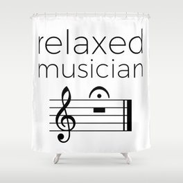 Relaxed musician Shower Curtain