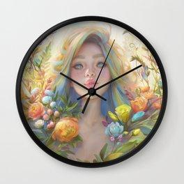 clip studio paint portrait Wall Clock