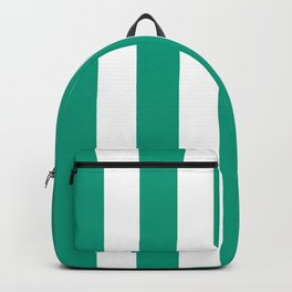 Paolo Veronese green - solid color - white vertical lines pattern Backpack