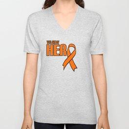 Leukemia Cancer Awareness design Gift product Unisex V-Neck