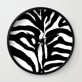 Black and white Zebra Stripes Design Wall Clock