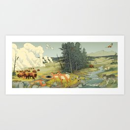 National Parks: Yellowstone Art Print