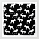 Moose Trot // Black by thinlinetextiles