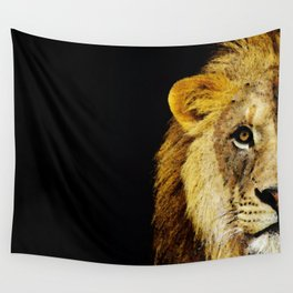 Lion Art - Face Off Wall Tapestry