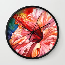 Tropical Hibiscus 2 Wall Clock