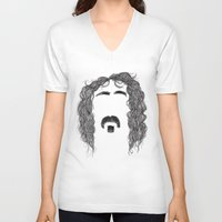 zappa V-neck T-shirts featuring Frank Zappa by Sára Szabó