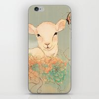 lamb iPhone & iPod Skins featuring Lamb by Maribellum