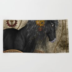 Beautiful wild horse Beach Towel