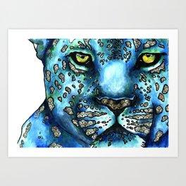 Oriental Leopard Art Print