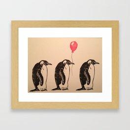 March of the Penguins Framed Art Print
