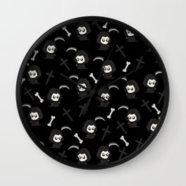 Cute Grim Reaper Pattern Wall Clock