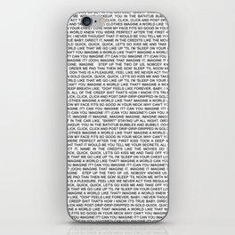 imagine - Ariana - lyrics - white black iPhone Skin