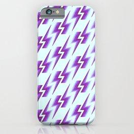 Lightning Pattern - Fuschia iPhone Case