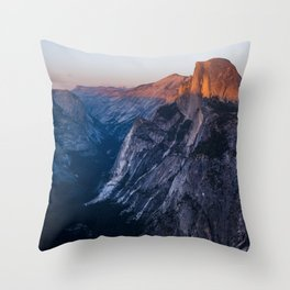 Sunkissed Half Dome at Sunset Throw Pillow
