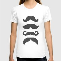 moustache T-shirts featuring Moustache by Jake  Williams