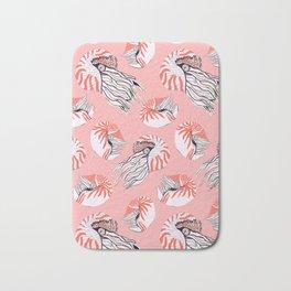 Coral nautilus print Bath Mat