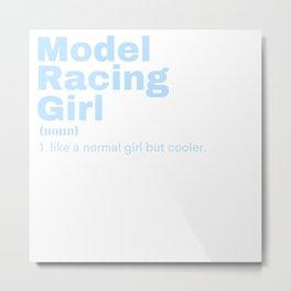 Film Girl - Model Racing Metal Print