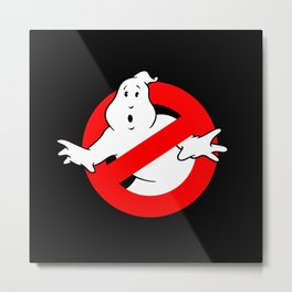 Ghostbusters Black Metal Print