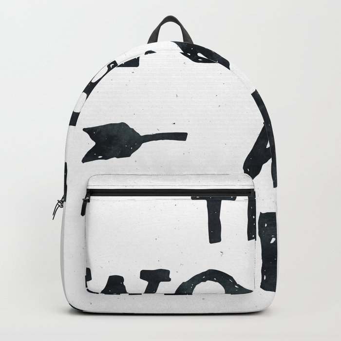 THE WORLD IS YOURS Black and White Backpack