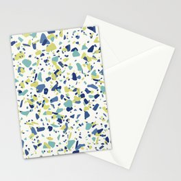 Terrazo in Blue, green and citron Stationery Cards