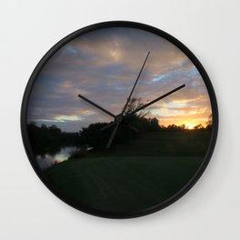 Sunset over intercoastal Wall Clock