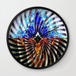 Prismatic Collide Wall Clock