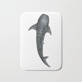 Whale shark Rhincodon typus for divers, shark lovers and fishermen Bath Mat