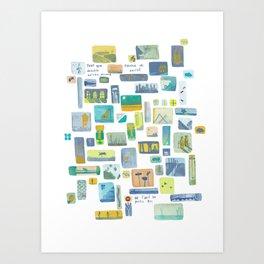 """Storyboard """"pour que demain existe encore"""" Art Print"""