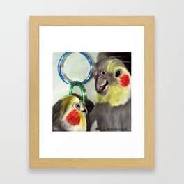 Chit Chat Cockatiel Painting Framed Art Print