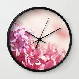 Dreamy pink hydrangea - Flower - Floral Wall Clock