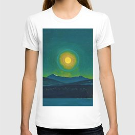Winter Moonlight Mountain Landscape by Rockwell Kent Appalachian T-shirt
