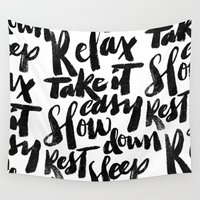 relax Wall Tapestries featuring relax by Matthew Taylor Wilson