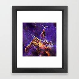 ALTERED Hubble Mystic Mountain- Carina Nebula Framed Art Print