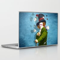 mad hatter Laptop & iPad Skins featuring Mad Hatter by Diogo Verissimo