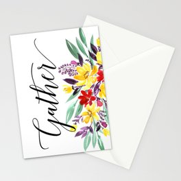 Gather floral Stationery Cards