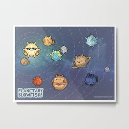 Planetary Blowfish Metal Print
