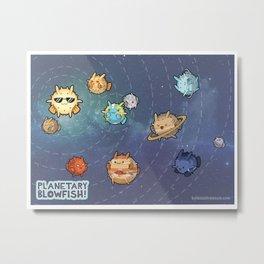 Planetary Blowfish Metal Print
