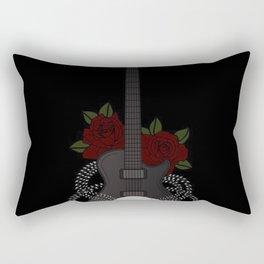 Skull and Guitar Rectangular Pillow