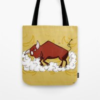 taurus Tote Bags featuring Taurus by Giuseppe Lentini