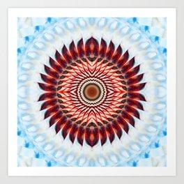 Windmill mandala Art Print