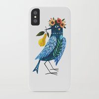 oana befort iPhone & iPod Cases featuring BLUE BIRD by Oana Befort