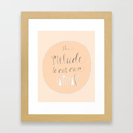 Prelude to our fairytale Framed Art Print