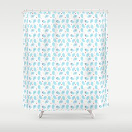 Ghosty pattern Shower Curtain