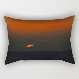 cloudy sunset seascape Rectangular Pillow