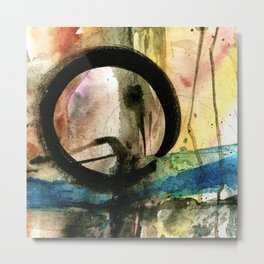 Enso Of Zen No. 4 by Kathy Morton Stanion Metal Print