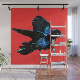 Grackle Red Hot Mad Wall Mural