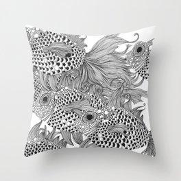 White Fish I Throw Pillow