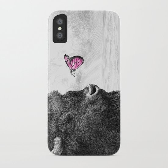 Bison and Butterfly iPhone Case