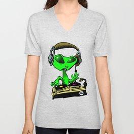 Alien DJ Unisex V-Neck
