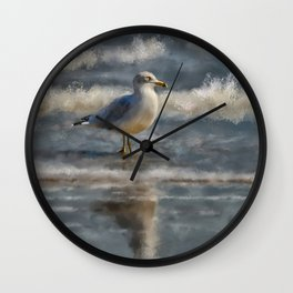 Seagull By The Seashore Wall Clock